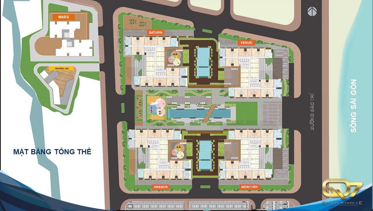 Mặt bằng tổng thể Q7 SaiGon Riverside Complex