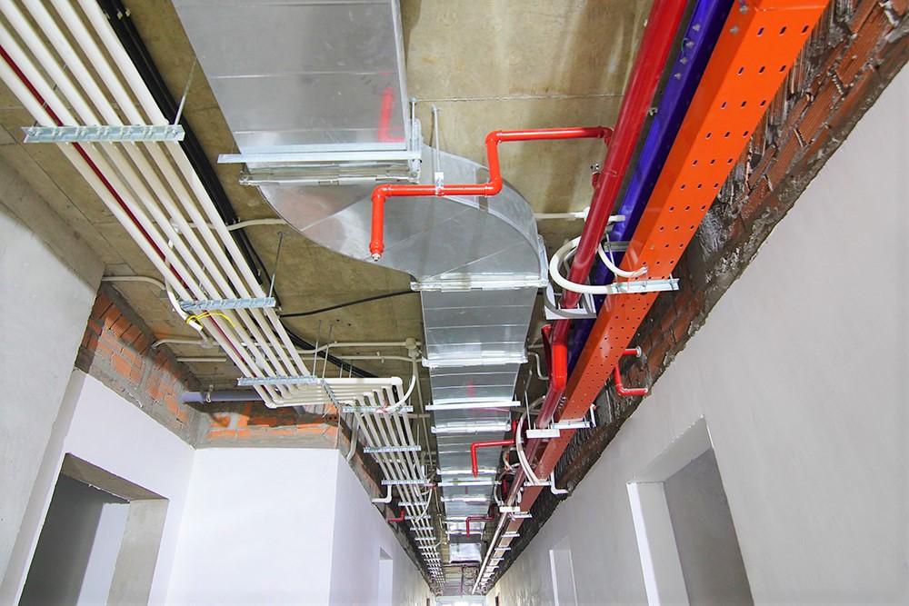 Hoàn thành hệ thống M&E hành lang tầng 34 Block Mercury và Block Uranus