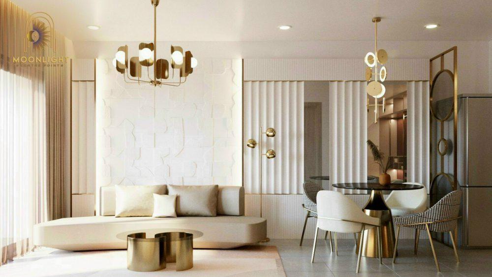Thiết kế phòng khách của căn hộ mẫu