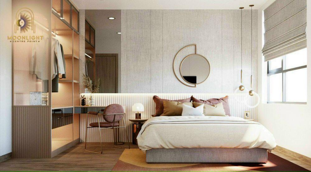 Thiết kế phòng ngủ của căn hộ mẫu