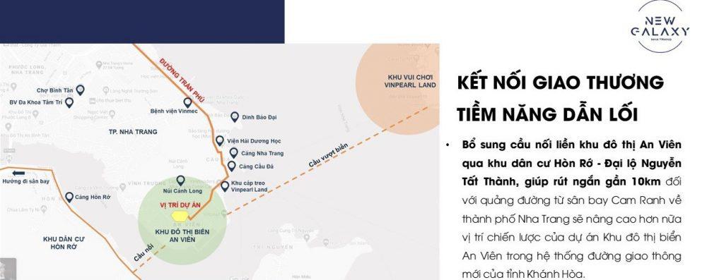 Vị trí kết nối New Galaxy Nha Trang