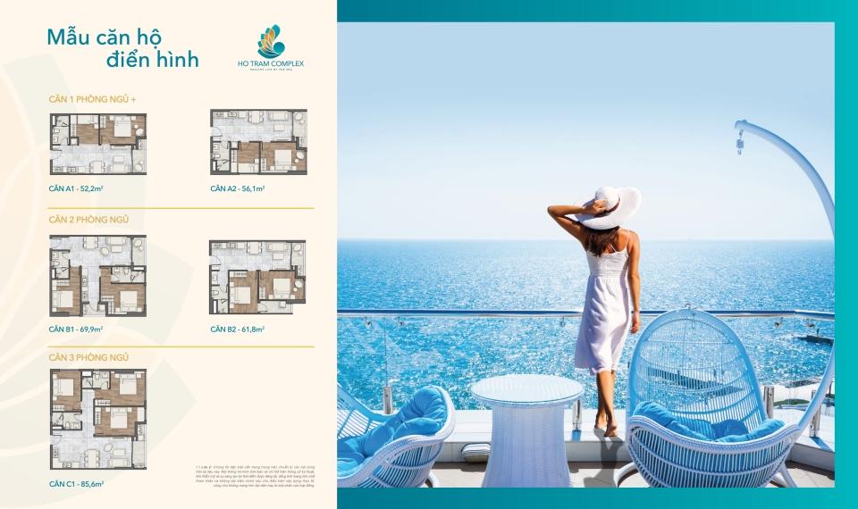 Thiết kế căn hộ dự án Hồ Tràm Complex