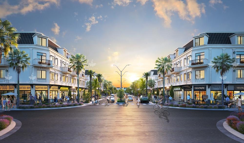 Phối cảnh nhà phố thương mại La Vida Residences Vũng Tàu