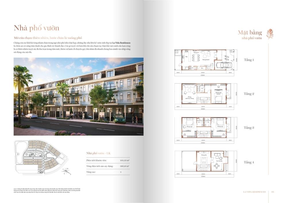 Thiết kế nhà phố vườn La Vida Residences Vũng Tàu
