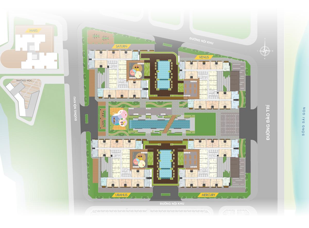 Mặt bằng tổng thể tầng 5 Q7 SaiGon Riverside Complex