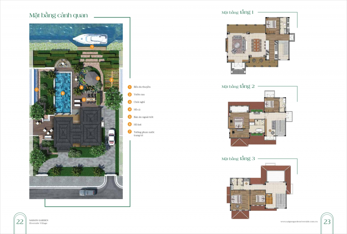 Thiết kế biệt thự mẫu Dự án Sài Gòn Garden Riverside Village