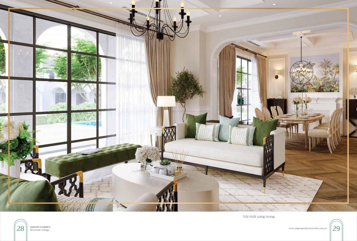 Thiết kế nội thất mẫu Dự án Sài Gòn Garden Riverside Village