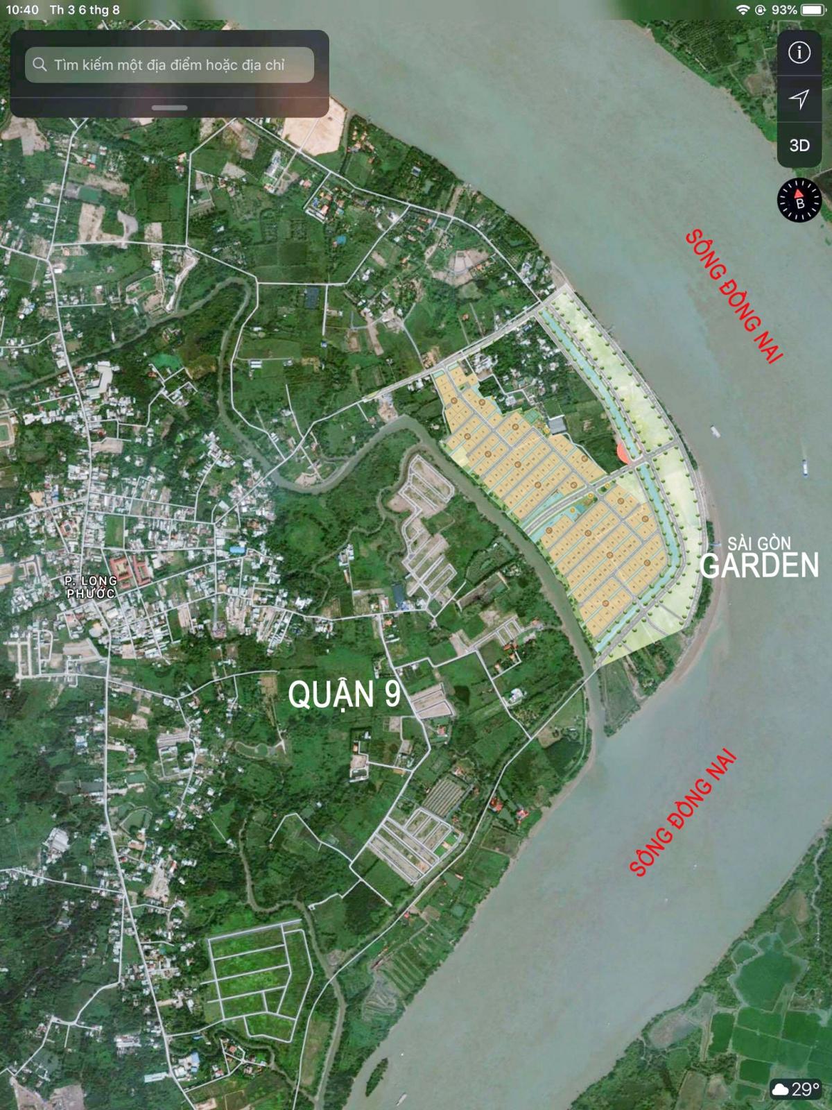 Vị trí Dự án Sài Gòn Garden Riverside Village